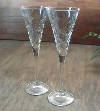 ローラス フルートシャンパンペアグラス